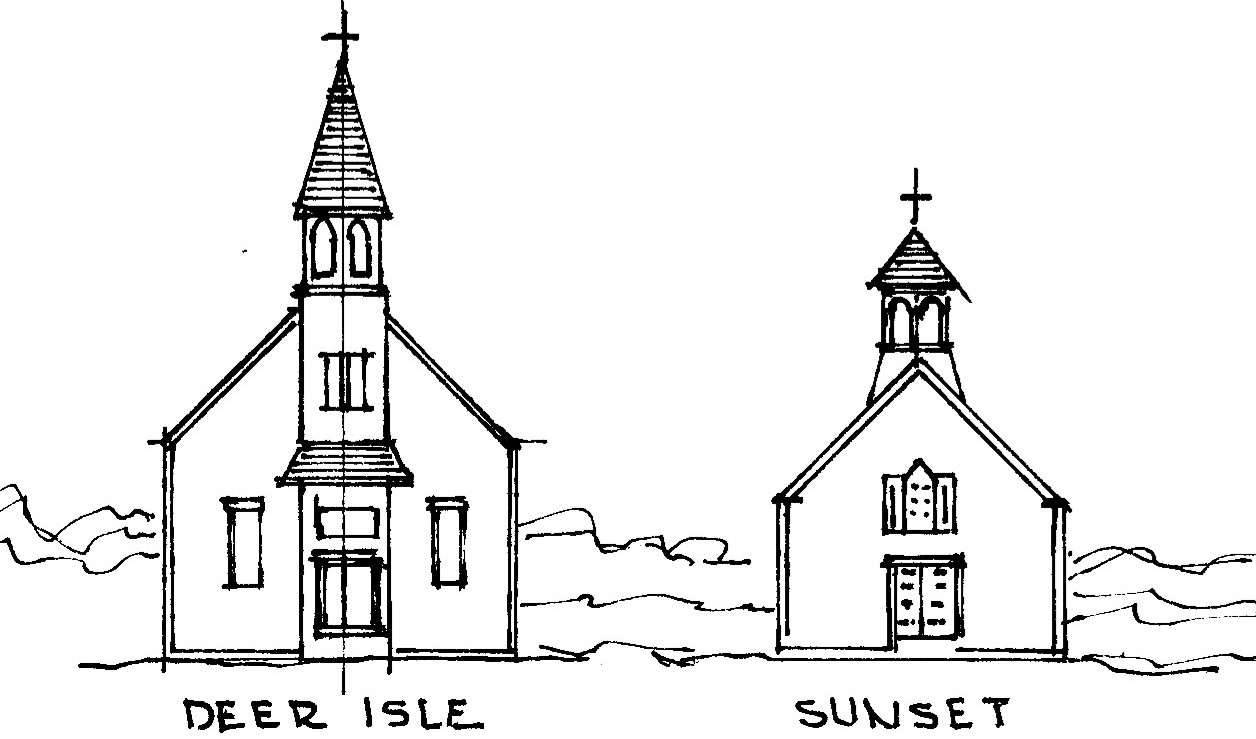 two churches clip art deer isle sunset congregational Church Youth Camp Clip Art church camp clipart images